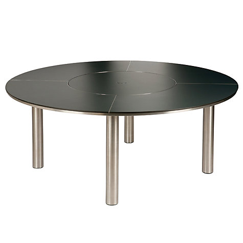 Buy Barlow Tyrie Equinox Round 8 Seater Outdoor Dining Table with Lazy Susan Online at johnlewis.com