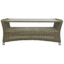 Buy John Lewis Rimini Rectangular Outdoor Coffee Table, Synthetic Wicker, 102 x 52cm Online at johnlewis.com