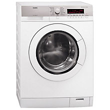 Buy AEG L87680FL Washing Machine, 8kg Load, A+++ Energy Rating, 1600rpm Spin, White Online at johnlewis.com