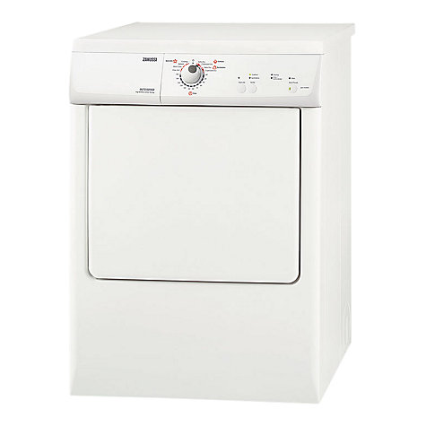 Buy Zanussi ZDE47200W Vented Tumble Dryer, 7kg Load, C Energy Rating, White Online at johnlewis.com