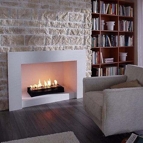 Buy Decoflame® Ascot Lux 400 Bioethanol Fire, Black Online at johnlewis.com