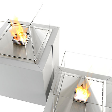 Buy Decoflame 16130 Monaco Square Lounge Bioethanol Fire, White Online at johnlewis.com