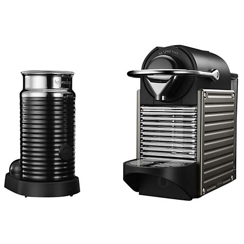 buy nespresso pixie automatic coffee machine and aeroccino by krups john lewis. Black Bedroom Furniture Sets. Home Design Ideas