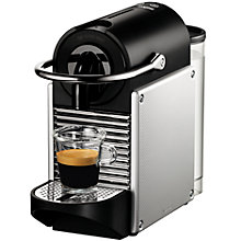 Buy Nespresso Pixie Automatic Coffee Machine by Magimix, Aluminium Online at johnlewis.com