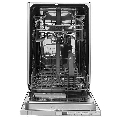 John Lewis JLBIDW902 Integrated Slimline Dishwasher White