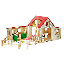 Buy John Lewis Wooden Farmyard Online at johnlewis.com