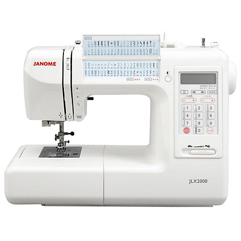 Buy Janome JLX2000 Sewing Machine Online at johnlewis.com