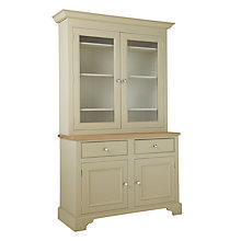 Buy Neptune Chichester 4ft Glazed Rack Dresser, Limestone Online at johnlewis.com
