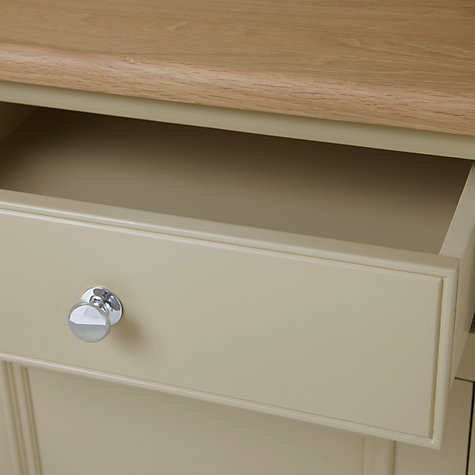 Buy Neptune Chichester 4ft Glazed Dresser, Limestone Online at johnlewis.com