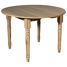 Buy Neptune Sheldrake Round Extending Dining Table 110-165cm Online at johnlewis.com