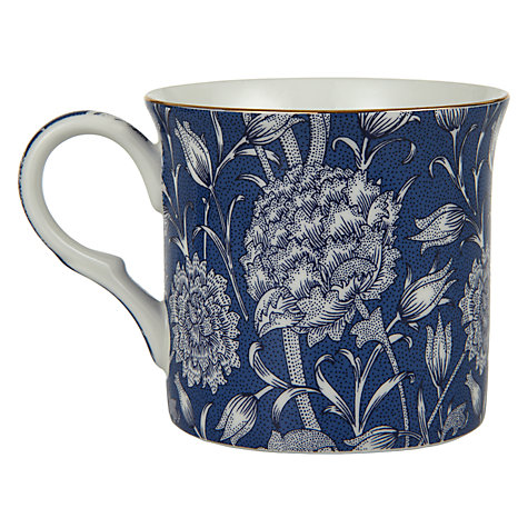 Buy William Morris Wild Tulip Mugs, Blue, Box of 2 Online at johnlewis.com