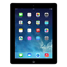 "Buy Apple iPad with Retina Display, Apple A6X, iOS 7, 9.7"", Wi-Fi & Cellular, 16GB, Black Online at johnlewis.com"