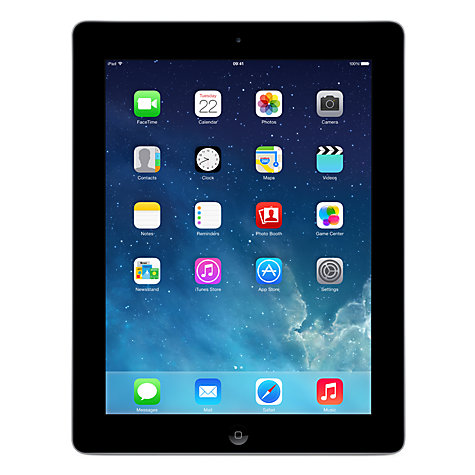 Buy Apple iPad with Retina Display, Apple A6X, iOS 7, 9.7, Wi-Fi, 16GB, Black Online at johnlewis.com
