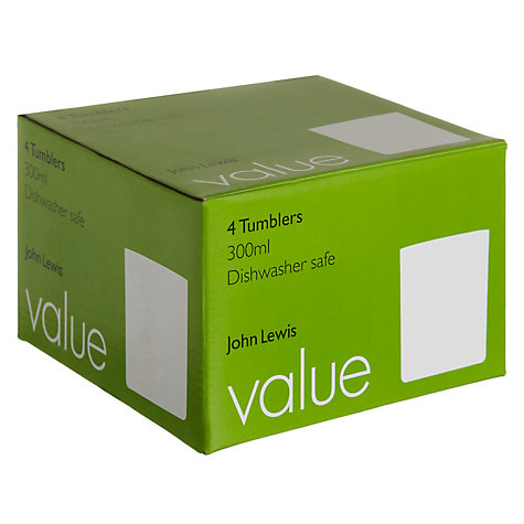 Buy John Lewis Value Tumblers, Box of 4 Online at johnlewis.com