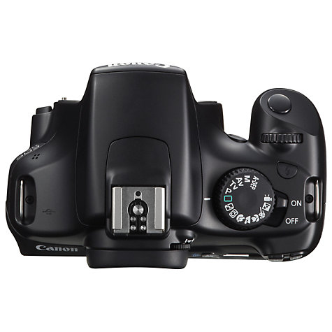 "Buy Canon EOS 1100D Digital SLR Camera with 18-55mm IS Lens, HD 720p, 12.2 MP, 2.7"" LCD Screen, Black Online at johnlewis.com"