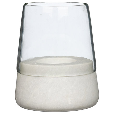 Buy John Lewis Marble Plug Glass Lantern, Small Online at johnlewis.com