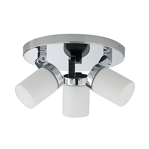Buy John Lewis Alpha 3 Light Bathroom Ceiling Light Online at johnlewis.com