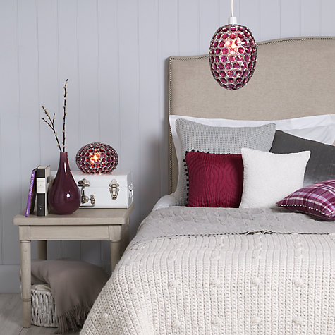 Buy John Lewis Easy-to-fit Adele Pendant Ceiling Light, Cassis Online at johnlewis.com
