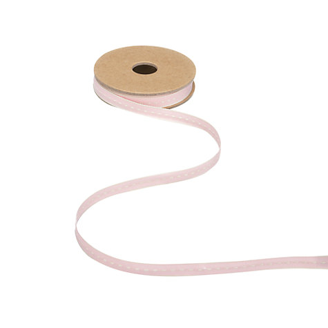 Buy East of India Pink Thin Stitch Ribbon, 3m Online at johnlewis.com