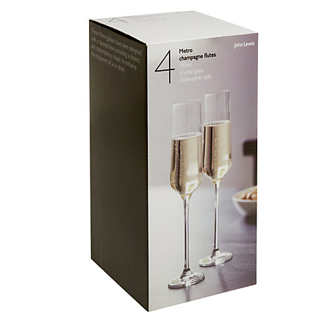 Buy John Lewis Metro Champagne Flutes, 0.19L, Set of 4 Online at johnlewis.com