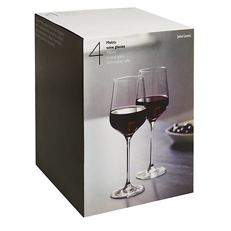 Buy John Lewis Metro Red Wine Glasses, 0.45L, Set of 4 Online at johnlewis.com