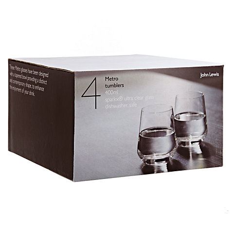 Buy John Lewis Metro Tumblers, Box of 4 Online at johnlewis.com