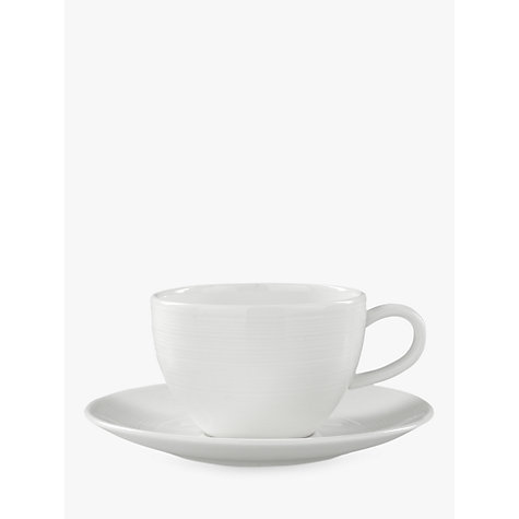 Buy John Lewis Croft Collection Luna Espresso Cup & Saucer, 0.15L. White Online at johnlewis.com