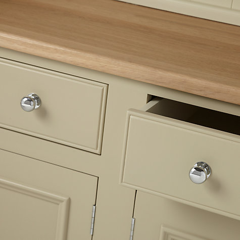 Buy Neptune Chichester 5ft Open Dresser, Limestone Online at johnlewis.com