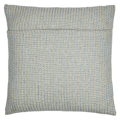 Buy Melin Tregwynt Padstow Waffle Lambswool Cushion, Blue Online at johnlewis.com