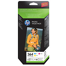 Buy HP 364 Series Ink Cartridges & Photo Paper Pack, CH082EE Online at johnlewis.com