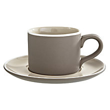 Buy John Lewis Puritan Cup and Saucer Online at johnlewis.com