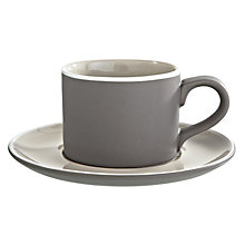 Buy John Lewis Puritan Cup and Saucer, 0.24L, Stone Online at johnlewis.com