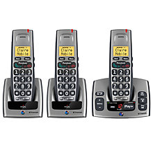 Buy BT Freestyle 750 Digital Telephone and Answering Machine, Trio DECT Online at johnlewis.com
