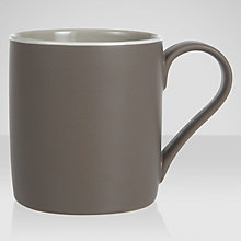 Buy John Lewis Puritan Mug, Putty/Chocolate Online at johnlewis.com