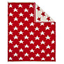 John Lewis Knitted Star Pram Blanket, Red