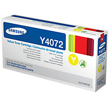 Buy Samsung CLT-Y4072S/ELS Toner Cartridge, Yellow Online at johnlewis.com