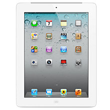 "Buy Apple iPad 2, Apple A5, 1GHz, iOS 6, 9.7"", Wi-Fi & 3G, 16GB, White Online at johnlewis.com"