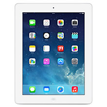 "Buy Apple iPad with Retina Display, Apple A6X, iOS 7, 9.7"", Wi-Fi & Cellular, 16GB, White Online at johnlewis.com"