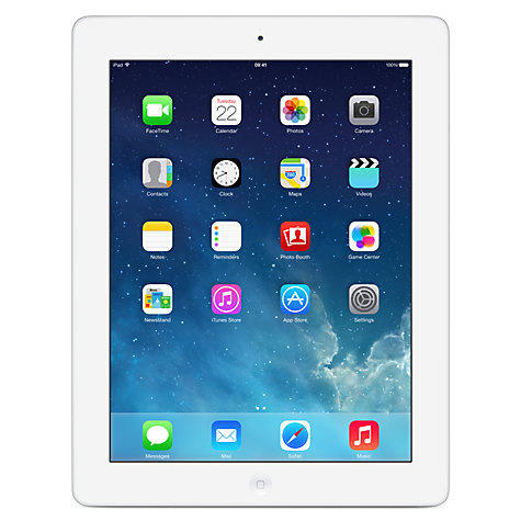 "Buy Apple iPad 2, Apple A5, iOS 6, 9.7"", Wi-Fi & 3G, 16GB, White Online at johnlewis.com"