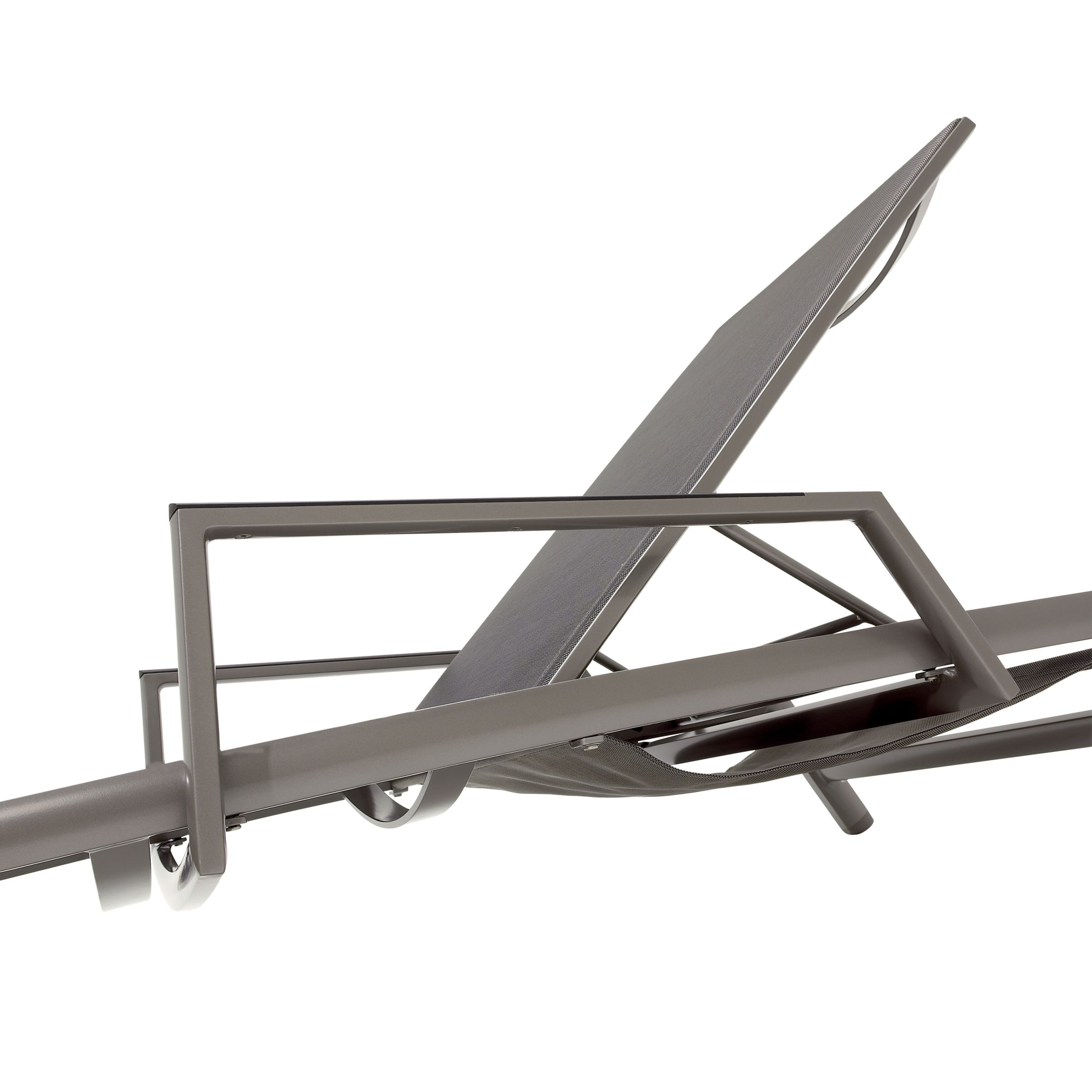 Gloster Azore Stacking Lounger Arms, Tungsten