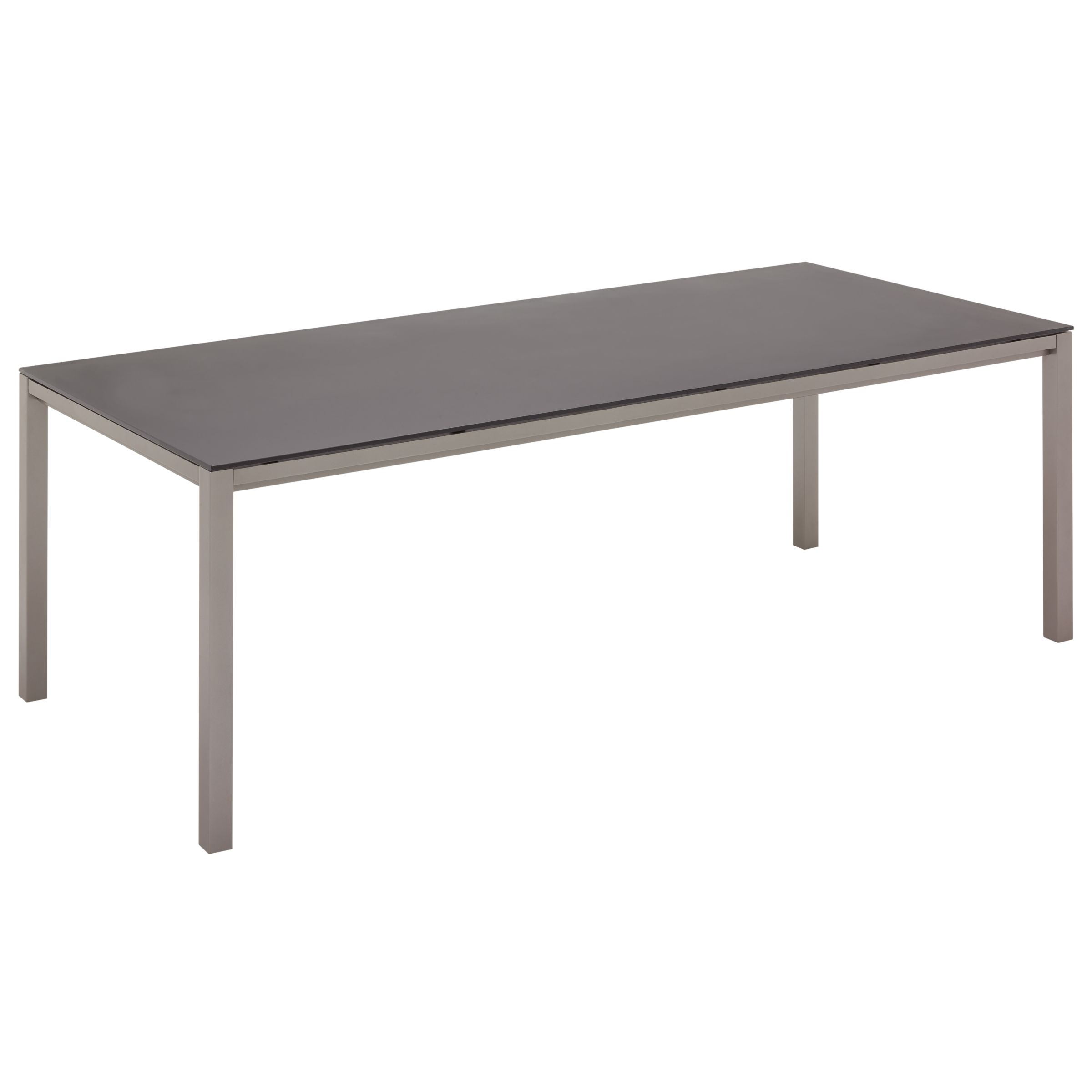 Gloster Azore Rectangular 8 Seater Outdoor Dining Table, Tungsten