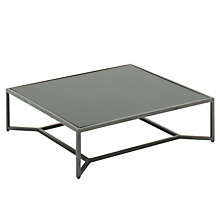 Buy Gloster Bloc Low Square Outdoor Coffee Tables, 90 x 90cm Online at johnlewis.com