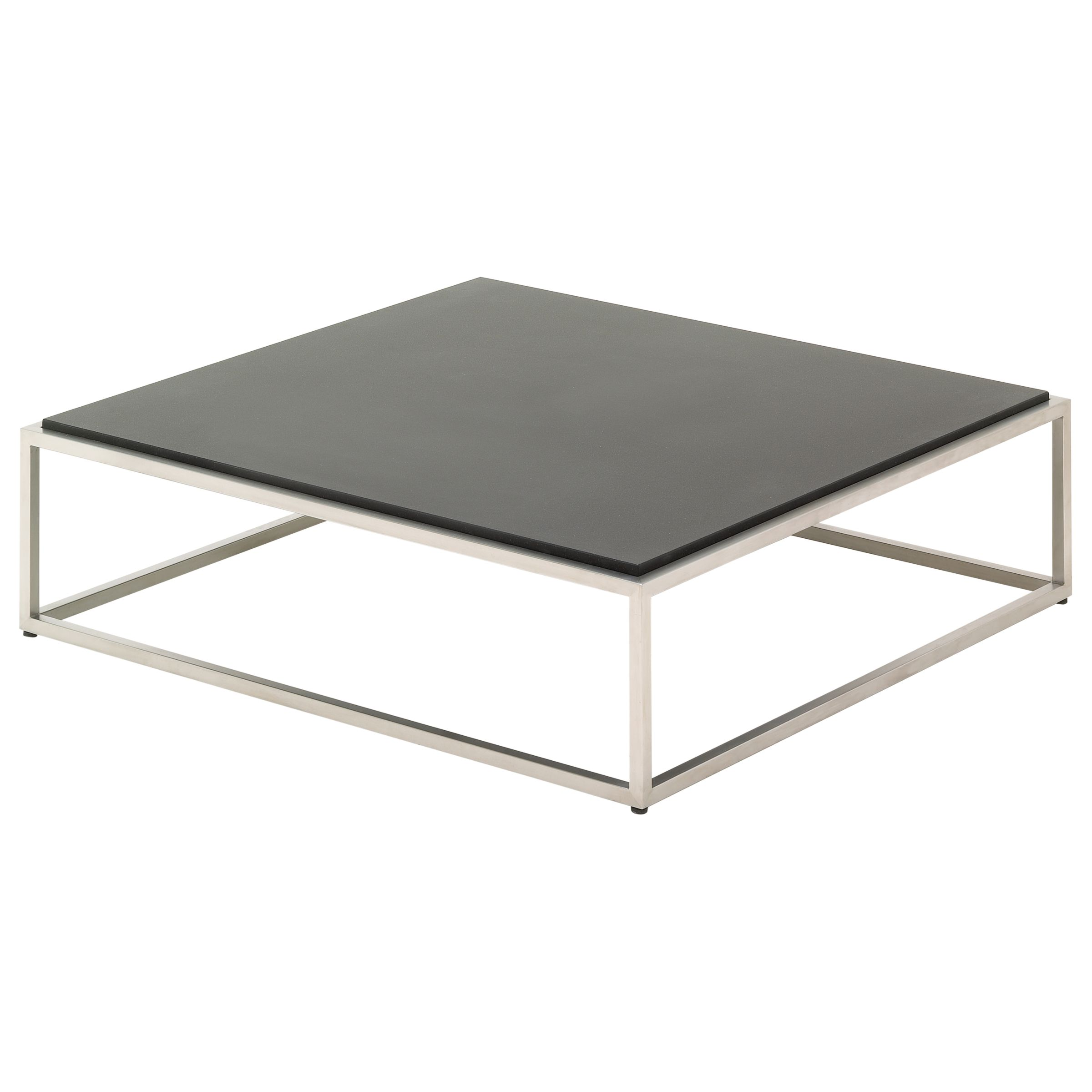 Gloster Cloud Square Outdoor Coffee Table with Quartz Top, Onyx