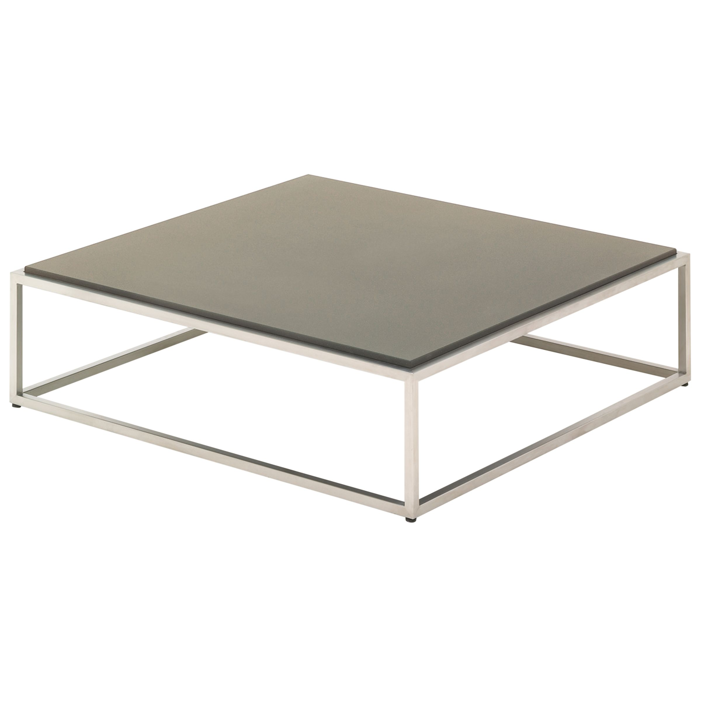 Gloster Cloud Square Outdoor Coffee Table with Quartz Top, Taupe