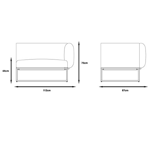 Buy Gloster Cloud 75 x 100 Outdoor Right End Units Online at johnlewis.com