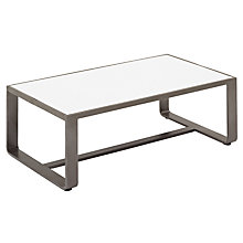 Buy Gloster Club Rectangular Outdoor Coffee Table, Tungsten / White HPL, 71 x 41cm Online at johnlewis.com