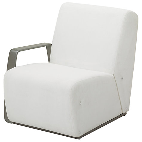 Buy Gloster Club Outdoor Left End Unit, Tungsten / Ivory Online at johnlewis.com