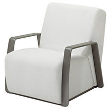 Buy Gloster Club Outdoor Lounge Chair, Tungsten / Ivory Online at johnlewis.com