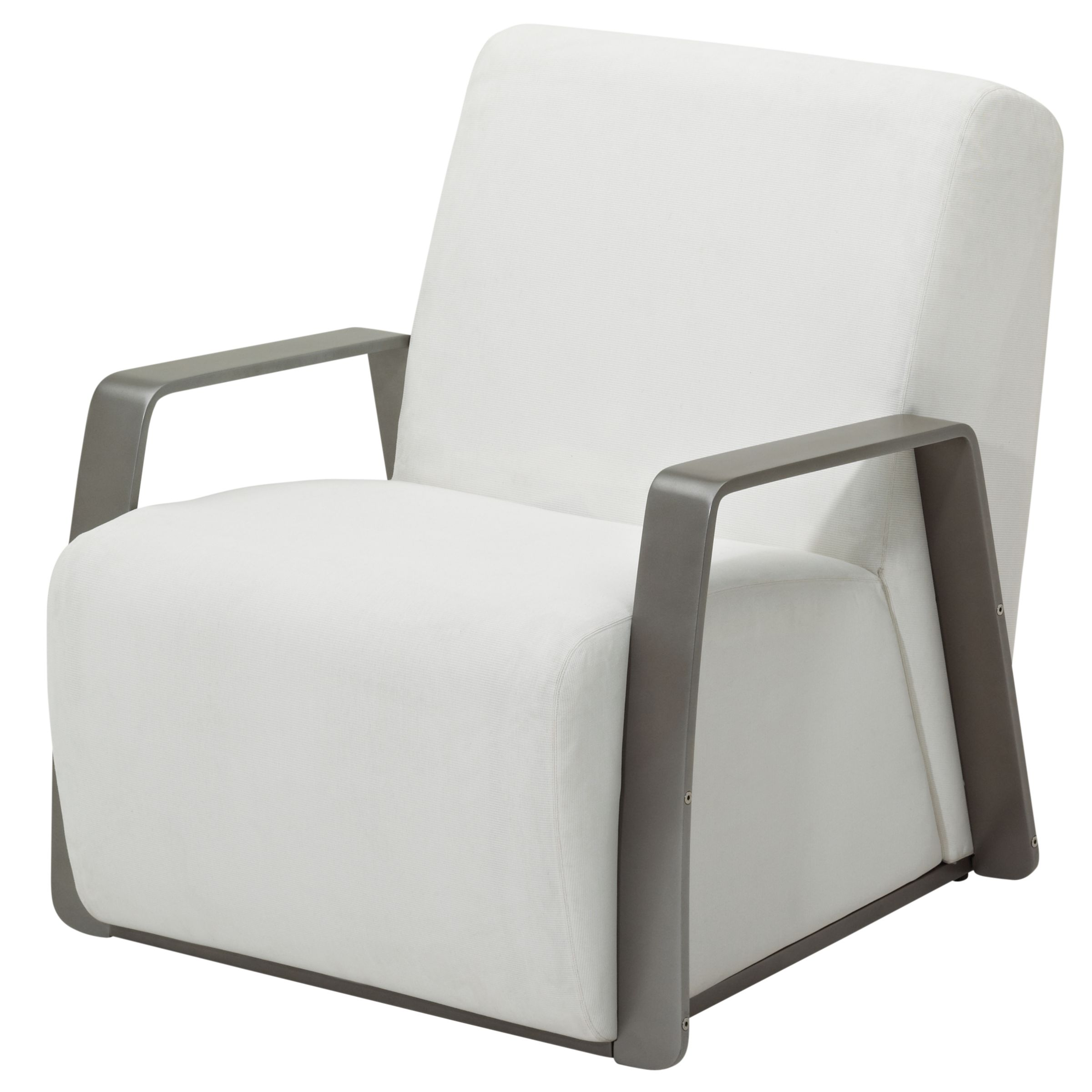 Gloster Club Outdoor Lounge Chair, Tungsten / Ivory