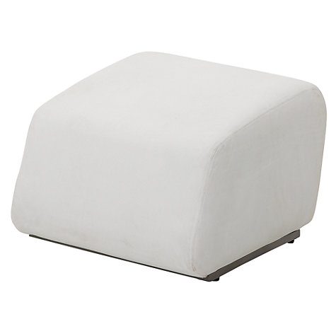 Buy Gloster Club Outdoor Ottoman, Ivory Online at johnlewis.com